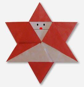 Origami santa star easy origami instructions for kids pinterest origami santa star mightylinksfo