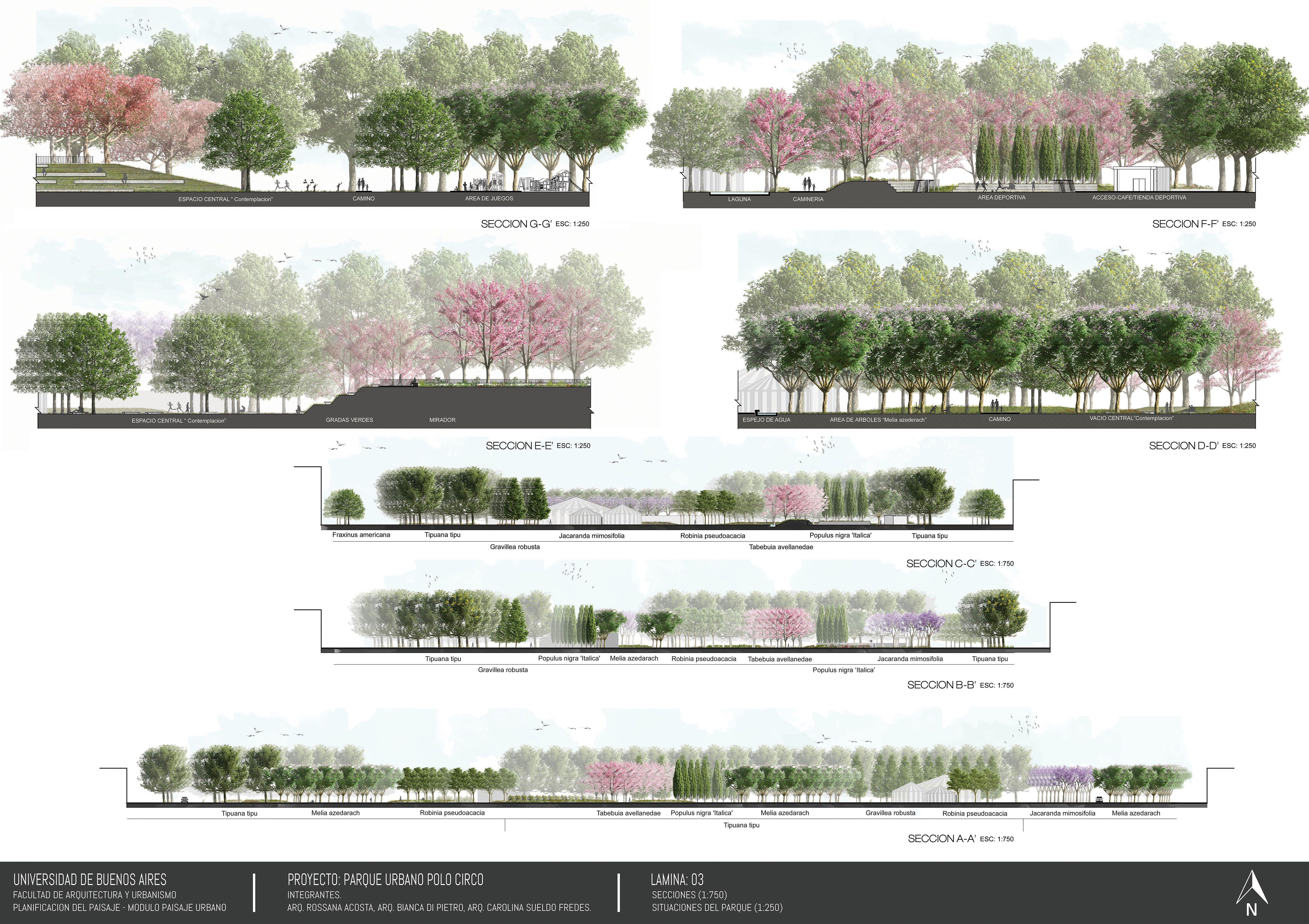 Landscape Architecture Sections Urban Park Peyzaj Mimarisi Peyzaj Mimari