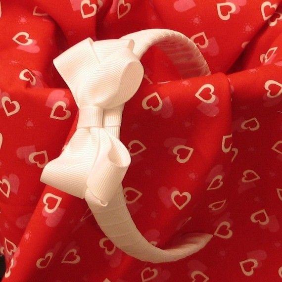 white bow headband $8