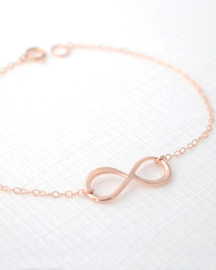 eternity rose gold bracelet