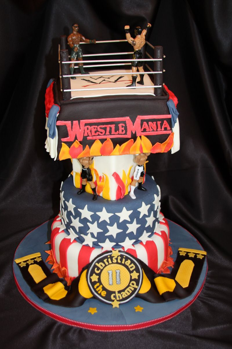 Wwe birthday party wwe cake cake and birthdays