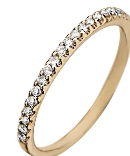 Gold Diamond Pave Stackable Ring