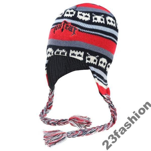 Czapka No Fear 2 Zimowa Ciepla Uszatka Finka Polar 3692489639 Oficjalne Archiwum Allegro Red Beanie Beanie Winter Hats