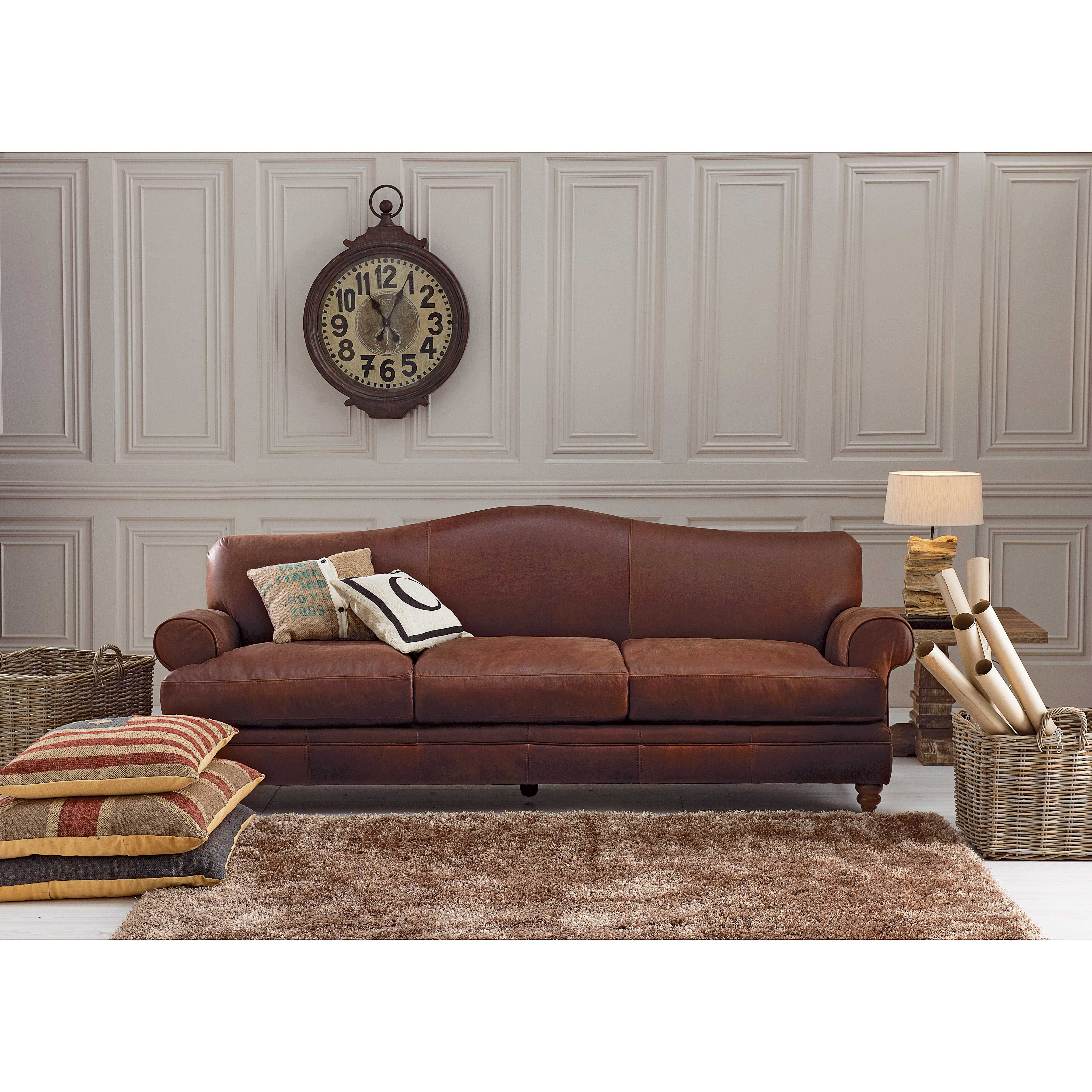 Hastings 3 Seater Leather Sofa From Domayne