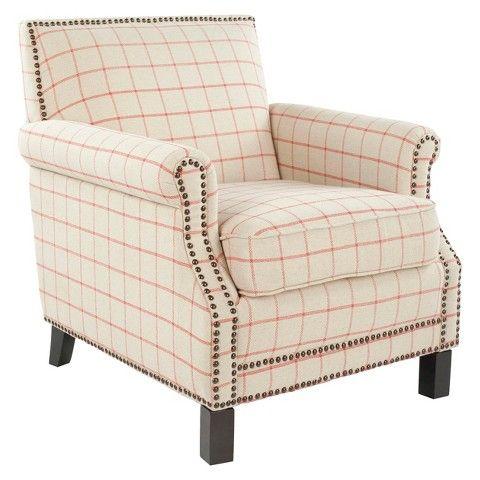 Safavieh Savannah Club Chair   Orange/Cream
