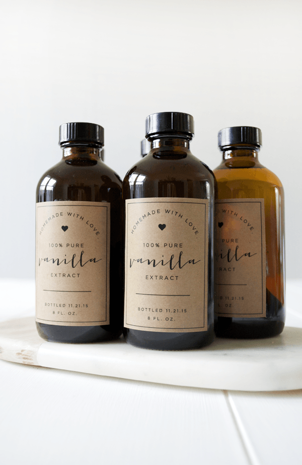 Homemade Vanilla + Free Printable Labels | Diy geschenke, Muttertag ...