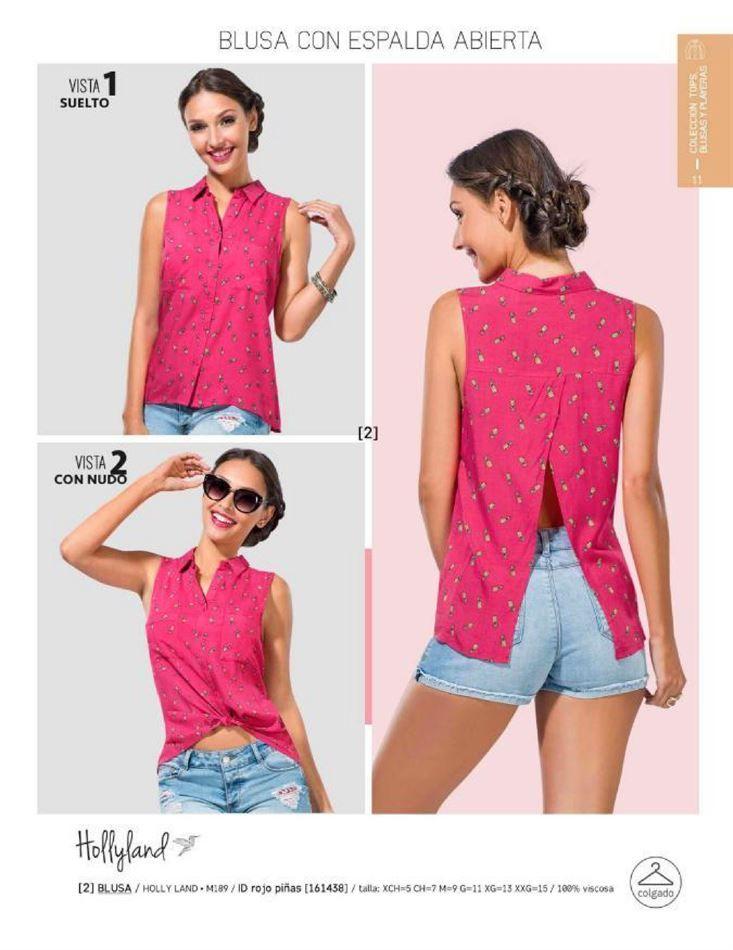 b241fd40c Blusa con espalda abierta de la marca Holly Land