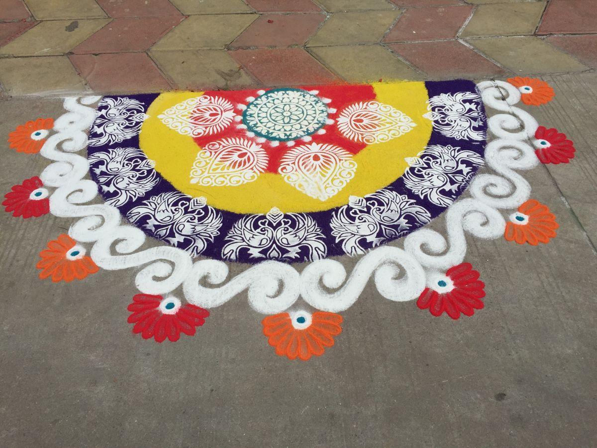 My rangoli in 2020 Diwali rangoli, Outdoor blanket