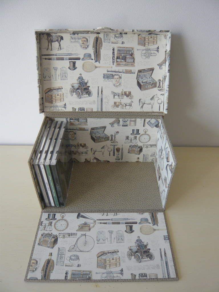 cartonnage boite de rangement pour cd buchbinden pinterest buchbinden karton und boxen. Black Bedroom Furniture Sets. Home Design Ideas