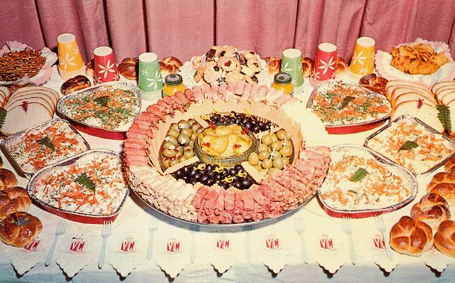 Vintage Food Layout Cocktail Party