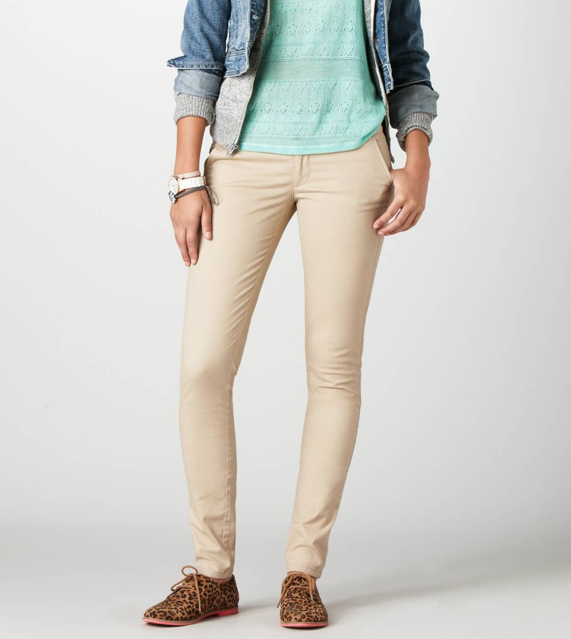 skinny trousers > skinnies and jeggings. AE
