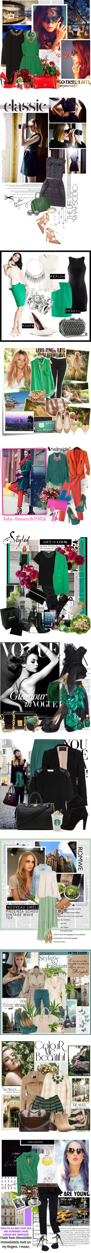 """green"" by natalinova ❤ liked on Polyvore"