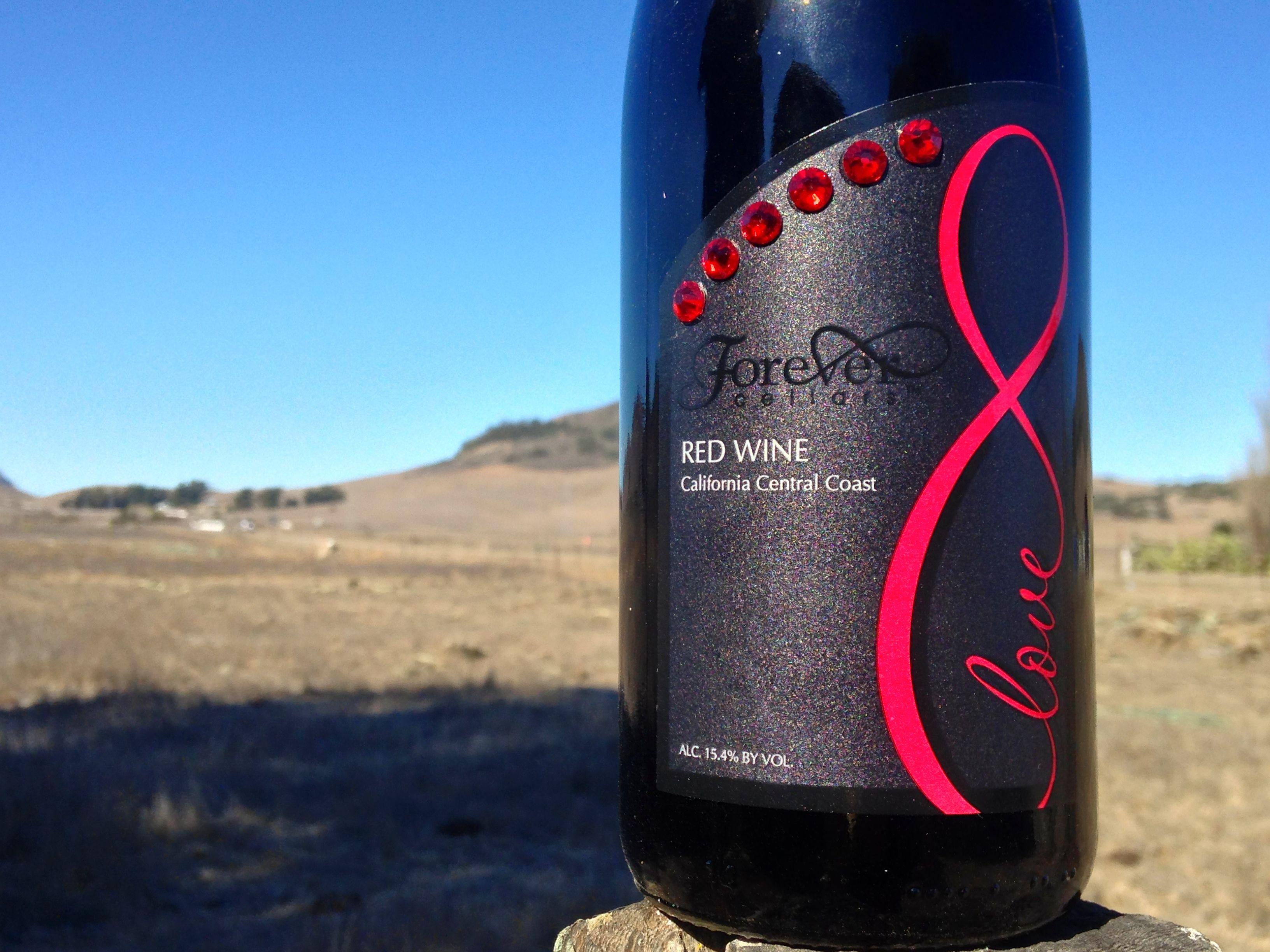 Forever Love Wine Www Forevercellars Com Red Wine Beverage Can Wine Bottle