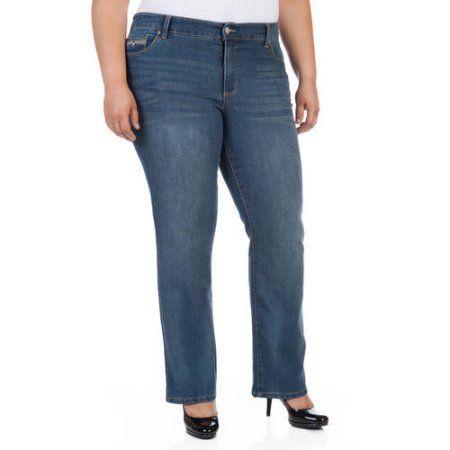 e08121d0b3f Faded Glory Women s Plus-Size Slim Boot cut Jeans