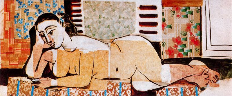 Pablo Picasso: Great Reclining Nude with Crossed Arms [?], 1955
