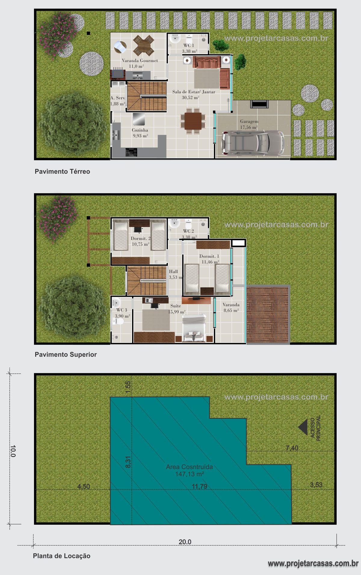 Projetarcasas Planta De Casas Projeto Sobrado Estilo Loft 3