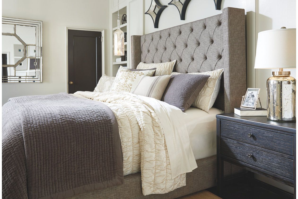 Sorinella Queen Upholstered Bed Ashley Furniture Homestore In 2019 Grey Upholstered Bed