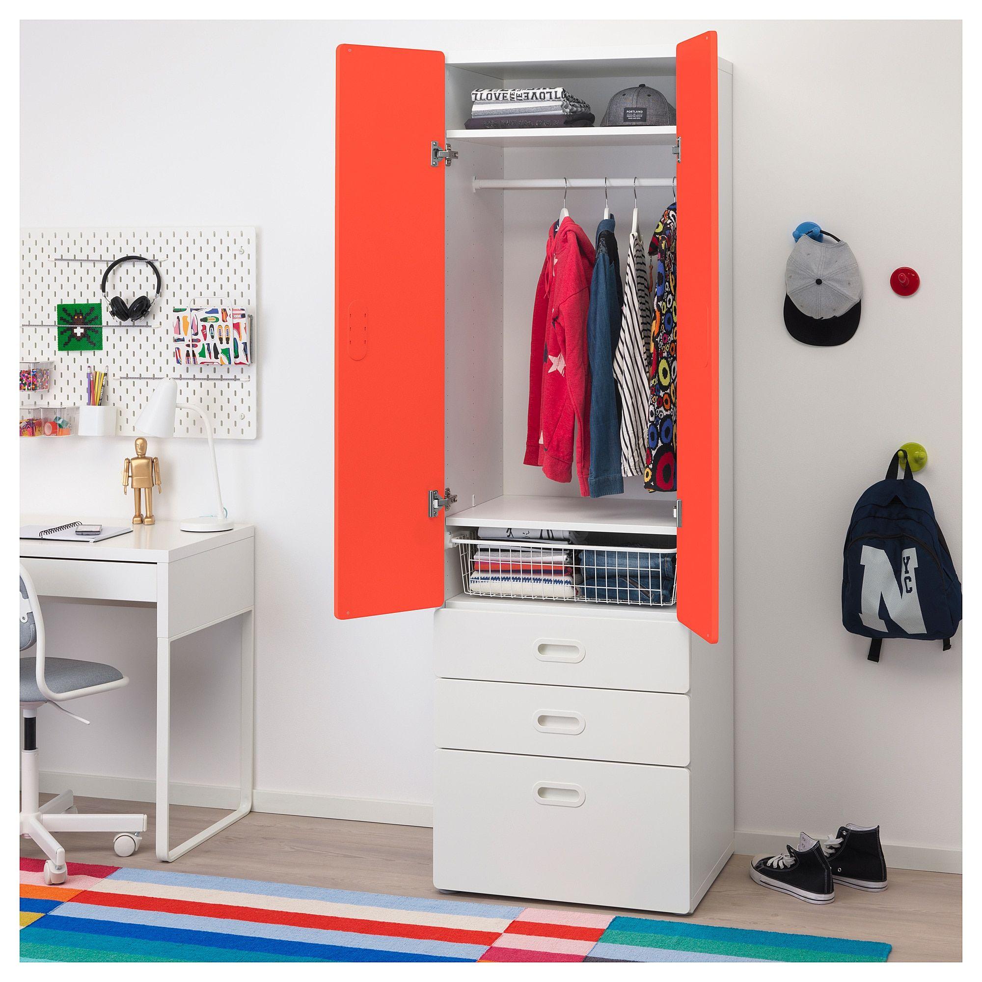 Ikea Stuva Fritids White Red Wardrobe In 2019 Ikea Closet