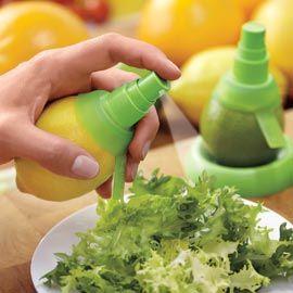 Citrus Master, Sprayer For Lemon, Lime, Orange.  Just twist this sprayer right into the fruit!  Low calorie flavor.