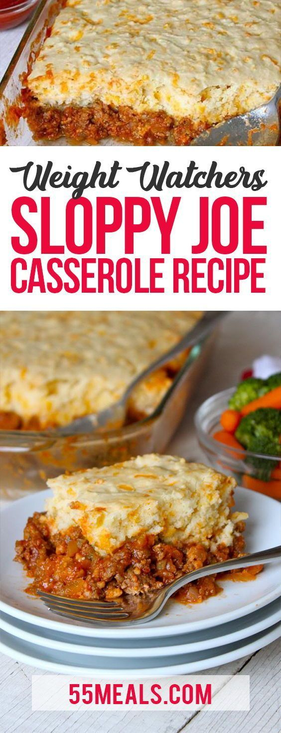 Sloppy Joe Casserole Recipe Casserole Dinner ... - Easy dinner recipes   - Kalorienarme -