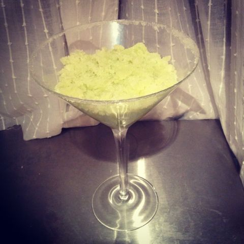 organic margarita body scrub from sincerely scrumptious creations. You can eat it too!