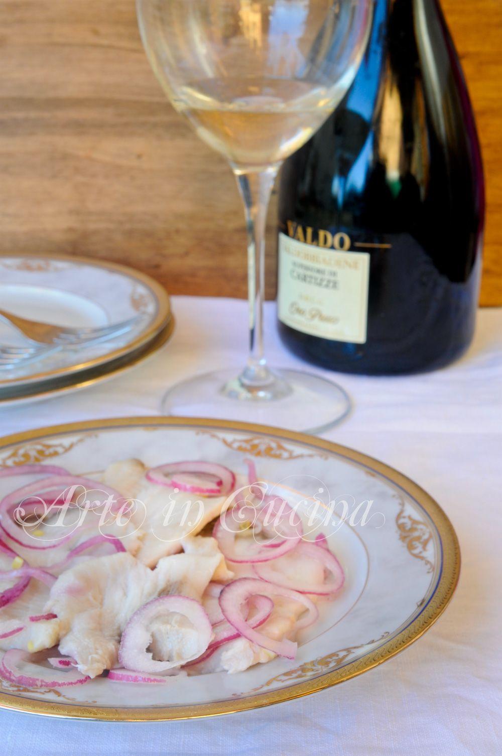Carpaccio di pesce spada al limone con cipolle vickyart arte in cucina