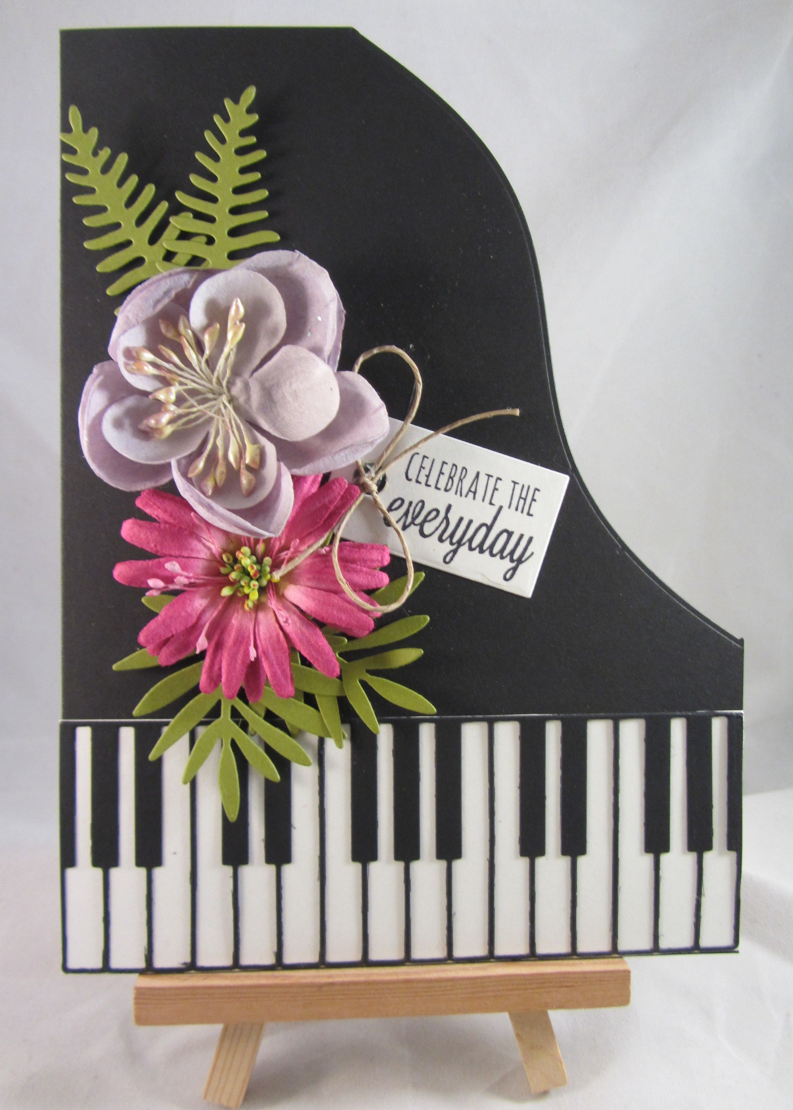 Piano Card Handmade birthday cards
