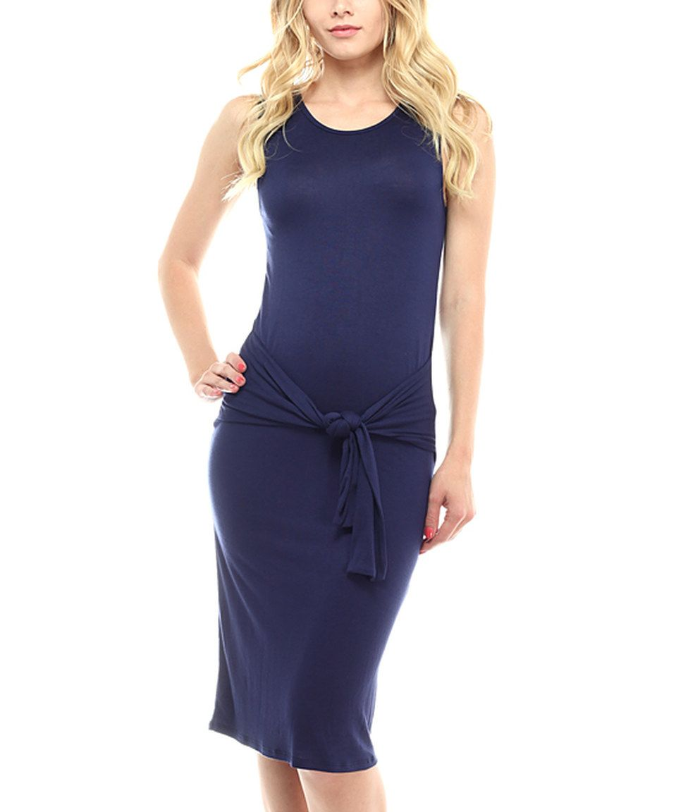 Look what i found on zulily celeste navy tiewaist bodycon dress