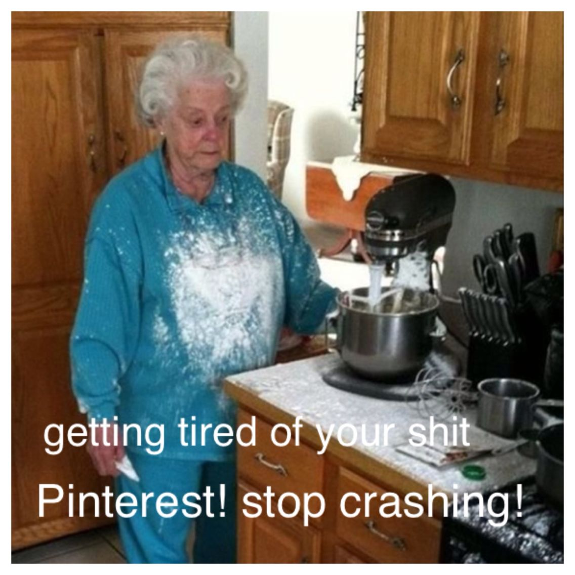 When Pinterest keeps crashing every time you're in the middle of something, 15 times!!!!