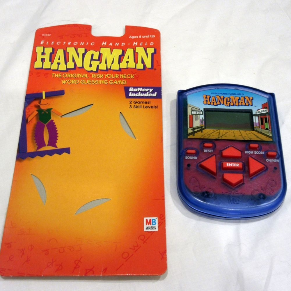 Hangman Handheld Electronic Game Mb With Instructions