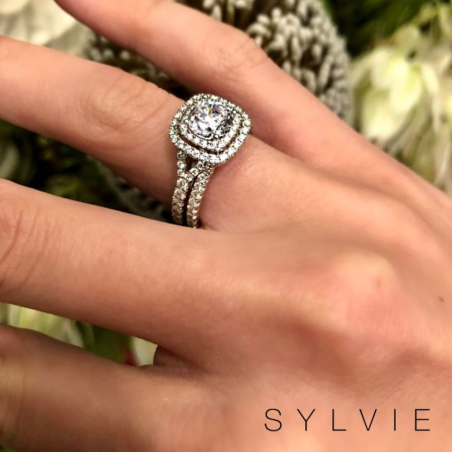 d8af2304cc206 Double the halo, double the love from Greenwich St. Jewelers! 💞 Say ...