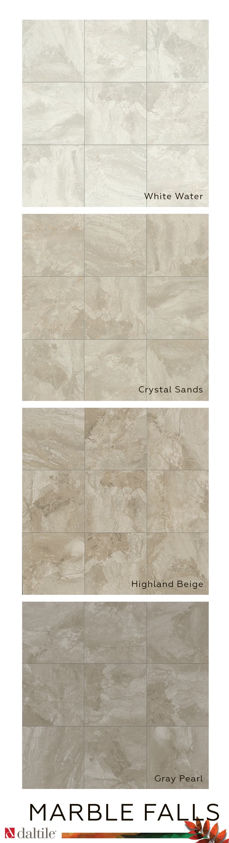 The Classic Elegance Of Marble Falls Glazed Ceramic Tile Rivals The