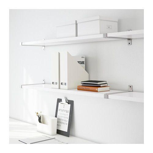 EKBY JÄRPEN / EKBY BJÄRNUM Vegghylle - hvit/aluminium - IKEA