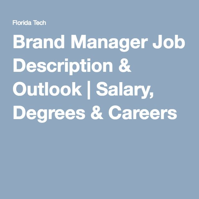 Brand Manager Job Description U0026 Outlook | Salary, Degrees U0026 Careers