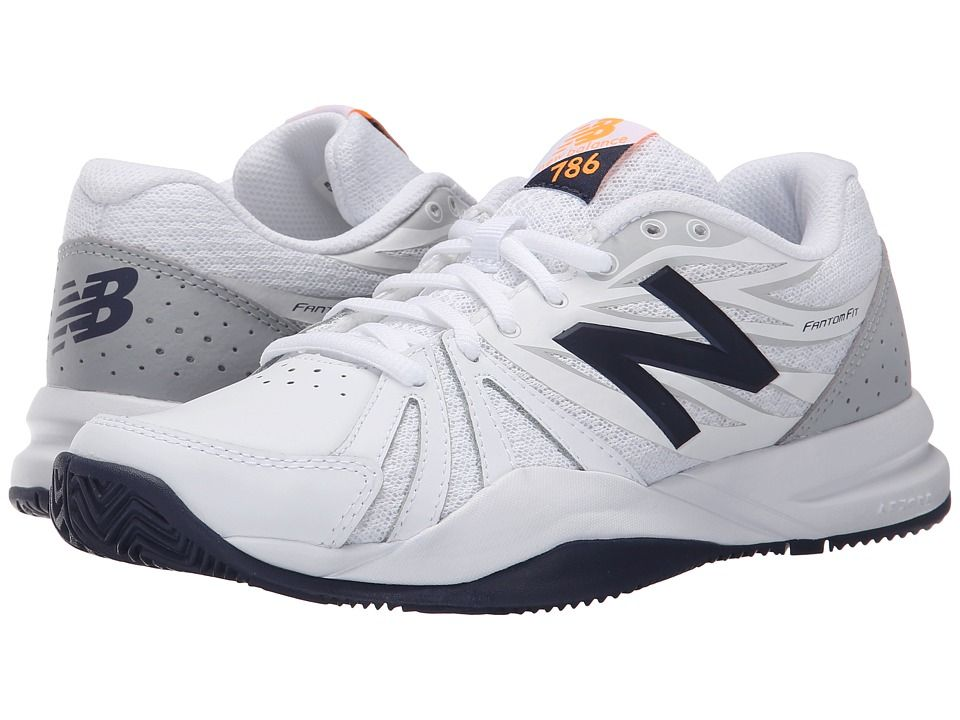 New Balance WC786v2 Women s Tennis Shoes White Blue  00b5b4bcd