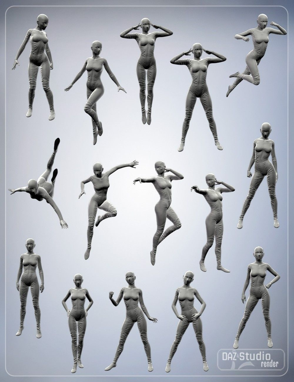 SuperHero Poses for Genesis 2 Female(s) | 3D Models and 3D