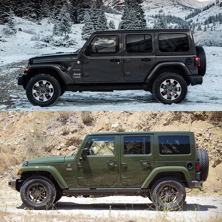 Side By Side The Differences Between The New Jeep Wrangler Jl Top And Its Jk Predecessor Bottom Become More Appar In 2020 Jeep Jl New Jeep Wrangler Jeep Wrangler