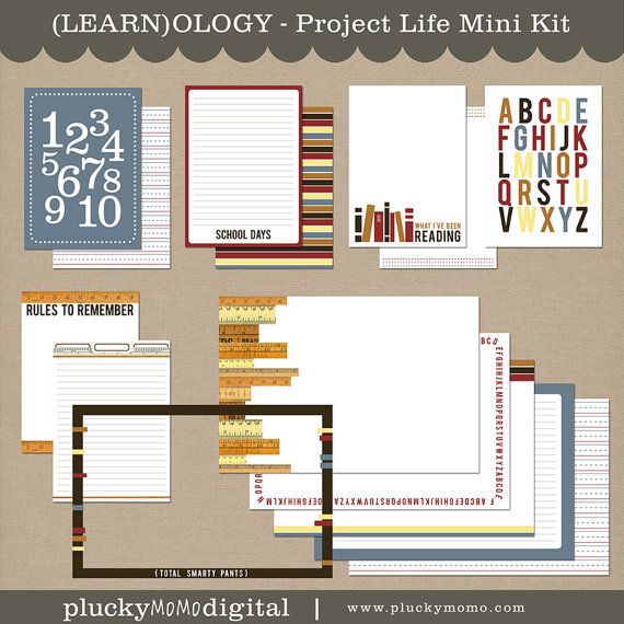LEARNOLOGY Journaling Cards for Scrapbooking or by pluckymomo, $5.50