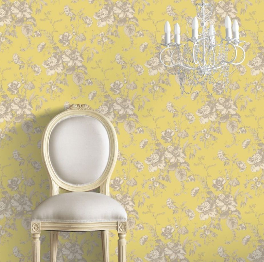 Effortlessly Chic Buttercup Yellow Wallpaper Will B