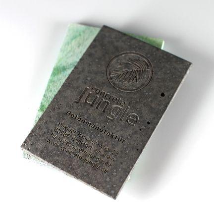 Concrete Business Cards\