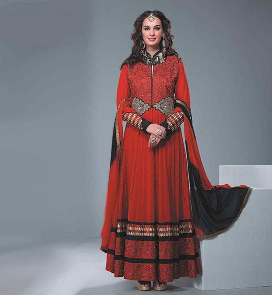 PARTY WEAR DESIGNER MAROON GEORGETTE VALUE FOR MONEY SALWAR SUIT ...