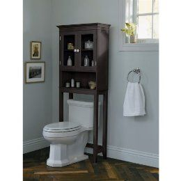 over the toilet etagere satin nickel | Fieldcrest Etagere ...