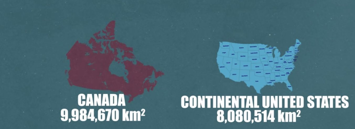 mapa2 - O Canada nao e tao grande