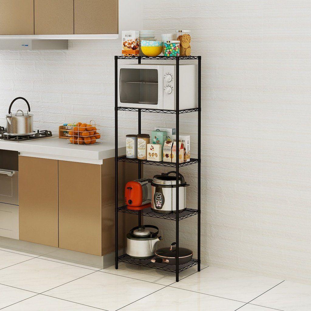 5-Tier Wire Shelving 5 Shelves Unit Metal Storage Rack