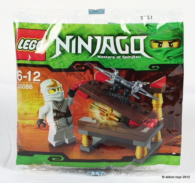 LEGO NINJAGO POLYBAG WITH MINIFIGURE ZANE HIDDEN SWORD 30086 BUILDING TOY