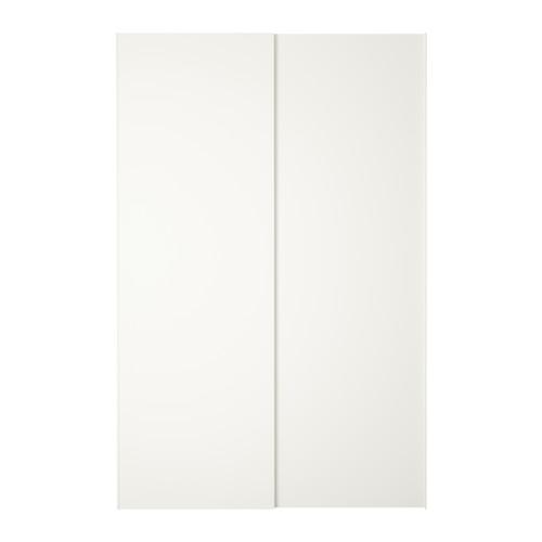 ikea hasvik pair of sliding doors 59x92 7 8 sliding doors allow more room for furniture. Black Bedroom Furniture Sets. Home Design Ideas