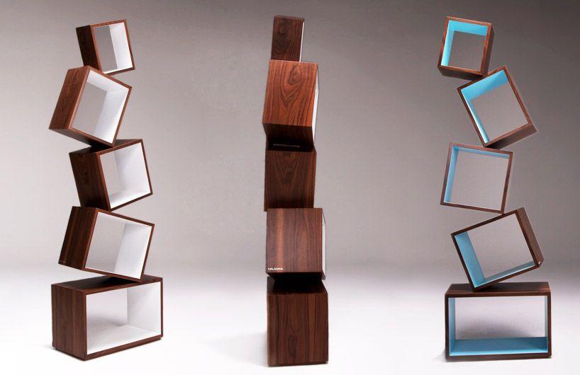 Malagana Equilibrium Bookcase Creative Bookshelves Bookshelf Design Modern Bookcase