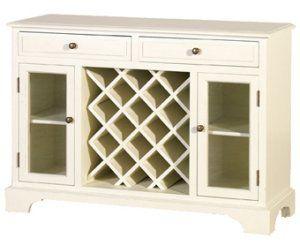 Cream Fayence Sideboard With Wine Rack