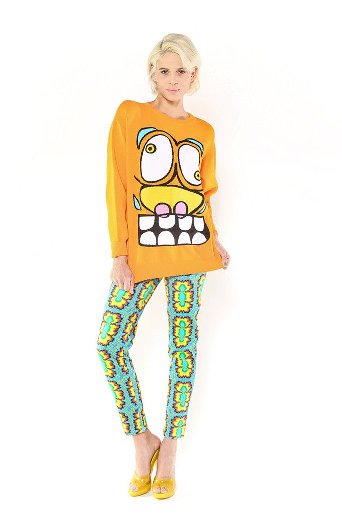 cartoon face sweater cartoon faces cartoon sweaters on walls insulated coveralls on sale id=62760