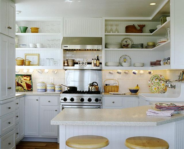 Small kitchen Great layout and open shelves kitchen Pinterest